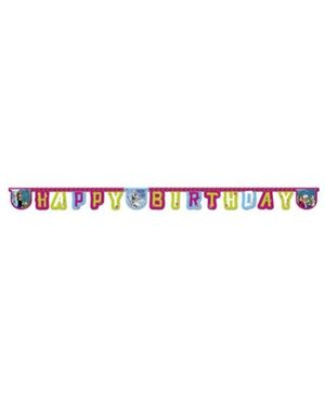 Disney Happy Birthday Die-cut Banner - Length 2.2 meters