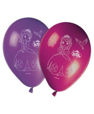 Disney Sofia The First Printed Balloons - Pack of 8