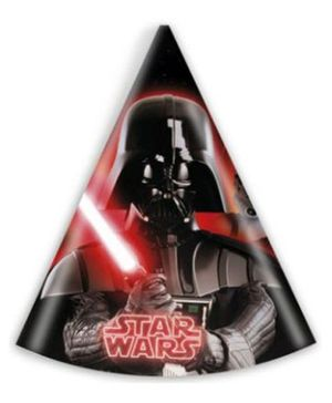 Disney Star Wars Paper Hats Printed - 6 Pieces