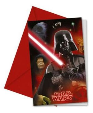 Disney Star Wars & Heroes Invitations & Envelopes - 6 Cards