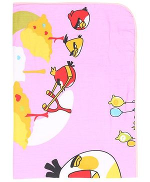 Diaper Changing Baby Mat Birdie Print - Pink