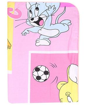 Diaper Changing Baby Mat Mouse Print - Pink And Yellow
