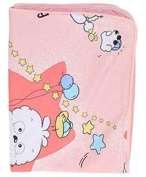 Diaper Changing Baby Mat Cartoon Print - Light Pink