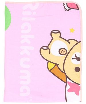 Diaper Changing Baby Mat Teddy Bear Print - Pink