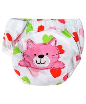 Cocalily Boutique Potty Training Pants Cat Embroidery - Pink
