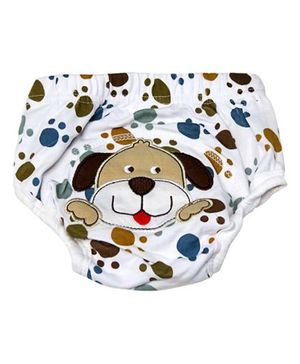 Cocalily Boutique Potty Training Pants Puppy Embroidery - Brown