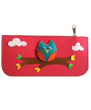 Earthen Hues Pink Pencil Pouch