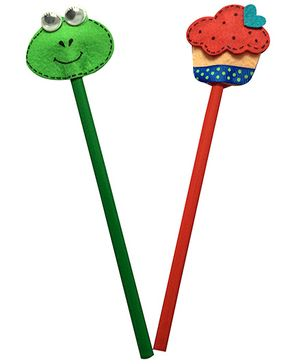 Earthen Hues Pencil Toppers Frog & Icecream
