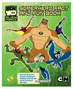 Ben 10 Superhero Fact & Fun Book - English