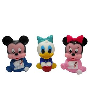Baby Steps Squeeze Mouse Junior Set Of 3 - Multicolour