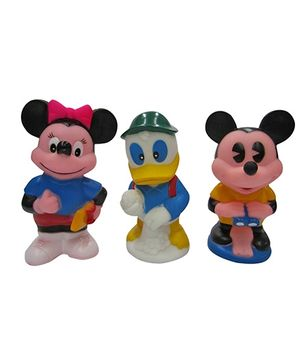 Baby Steps Squeeze Mouse Standing Big Set Of 3 - Multicolour