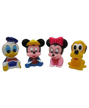 Baby Steps Squeeze Mouse Sitting Big Set Of 4 - Multicolour