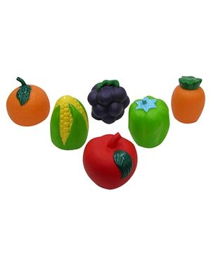 Baby Steps Squeeze Fruits And Vegetables Set Of 6 - Multicolour