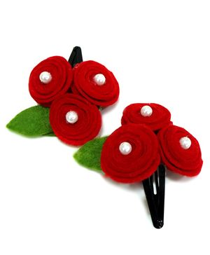 Aayeras Nest Red Roller Roses Tictac Clips