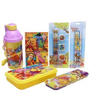 Disney Winnie The Pooh School Kit Multicolour - Set Of 6