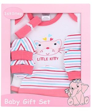 1st Step Clothing Gift Set Kitty Print Pack Of 5 - Pink