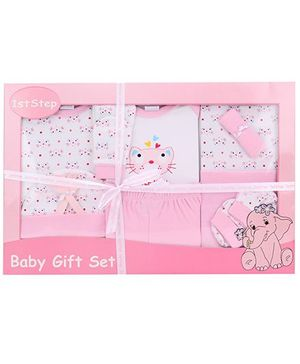 1st Step Baby Clothing Gift Set Hello Kitty Print Pack Of 11 - Pink