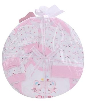 1st Step Clothing Basket Gift Set Kitty Print Pack Of 6 - Pink