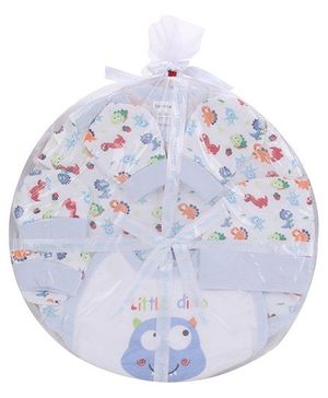 1st Step Clothing Basket Gift Set Little Dino Print Pack Of 6 - Blue