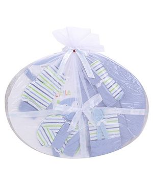 1st Step Clothing Basket Gift Set Kitty Print Pack Of 10 - Blue