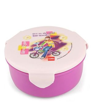 Cello Homeware Polo Lunch Box With Fork Spoon Round - Purple