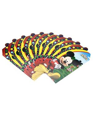 Disney Mickey Mouse Club House Invitation Card Pack Of 10 - Multi Color
