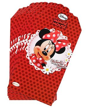 Disney Minnie Mouse Invitation Card Pack Of 10 - Red