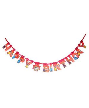 Disney Princess Happy Birthday Die-Cut Banner - Red