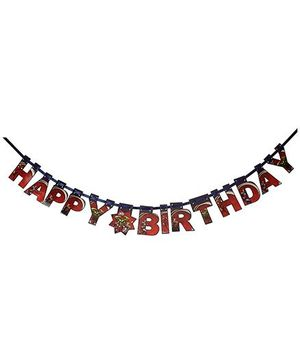 Avengers Happy Birthday Die-Cut Banner - Multi Color