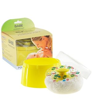 Babe Powder Puff With Case - Yellow
