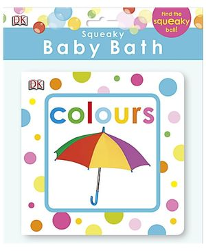 Squeaky Baby Bath Book Colours - English