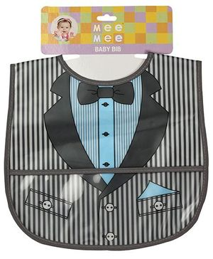 Mee Mee Little Foodies Plastic Bib MM-3893 - Grey