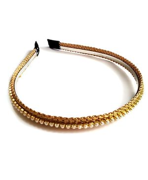 Pearl Hairband - Gold