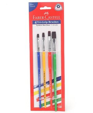 Faber Castell Flat Paint Brush - Pack Of 4