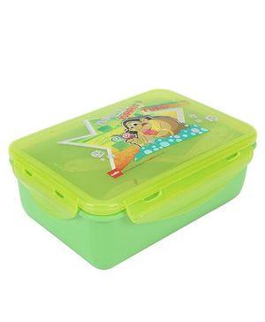 Cello Homeware Polo Lunch Box Yummy Tummy Print - Green