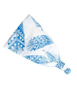 ATUN Pastel Indigo Feather Print Headband - Small