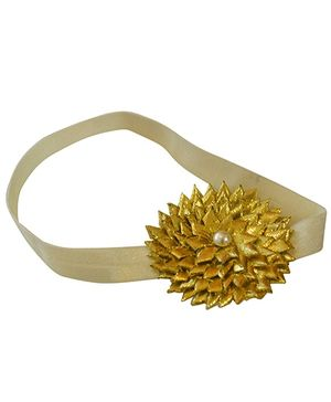 Tiny Closet Pearl Accented Headband - Gold