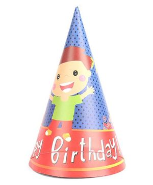 B Vishal Birthday Theme Party Caps Pack Of 10 - Multi Color