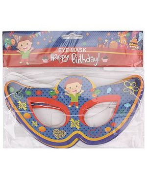 B Vishal Birthday Theme Eye Mask Pack Of 10 - Multi Color