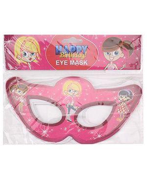 B Vishal Birthday Theme Eye Mask Pack Of 10 - Pink