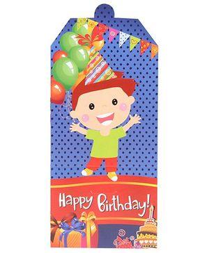 B Vishal Birthday Theme Invitation Card Pack Of 10 - Multi Color