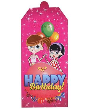 B Vishal Birthday Theme Invitation Card Pack Of 10 - Pink