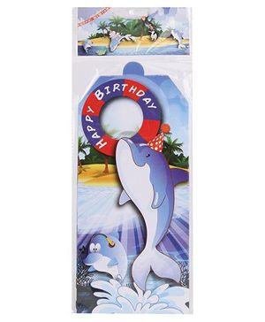 B Vishal Aquatic Birthday Theme Invitation Card Pack Of 10 - Multi Color