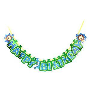 B Vishal Jungle Happy Birthday Banner