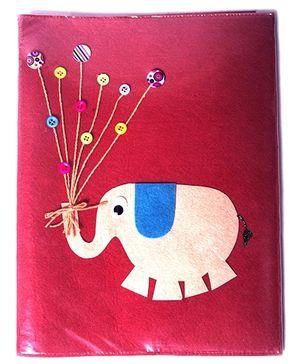 Elephant A4 File Folder - Red