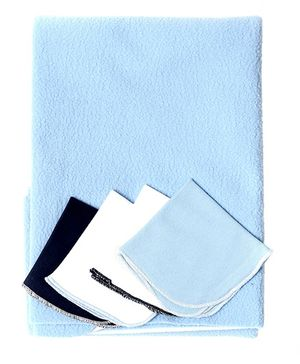 Bio Kid Diaper Changing Mat With 4 Wipes - Light Blue