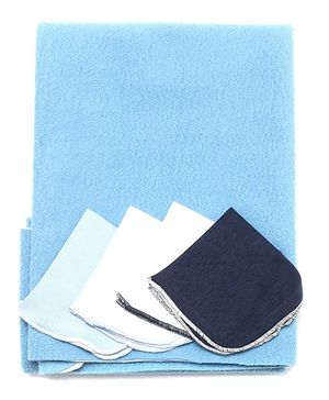 Bio Kid Diaper Changing Mat With 4 Wipes - Blue