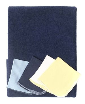 Bio Kid Diaper Changing Mat With 4 Wipes - Navy Yellow
