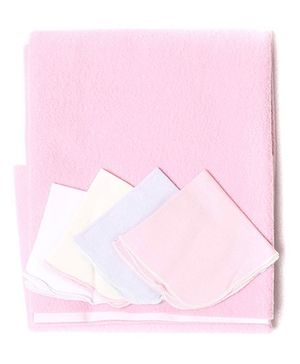 Bio Kid Diaper Changing Mat With 4 Wipes - Pink