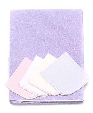 Bio Kid Diaper Changing Mat With 4 Wipes - Purple